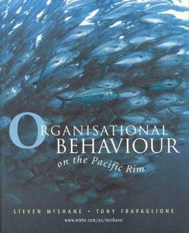 9780074710395: Organisational Behaviour on the Pacific Rim