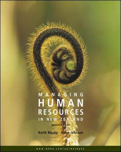 Managing Human Resources in New Zealand -: MacKy, Keith; Johnson,