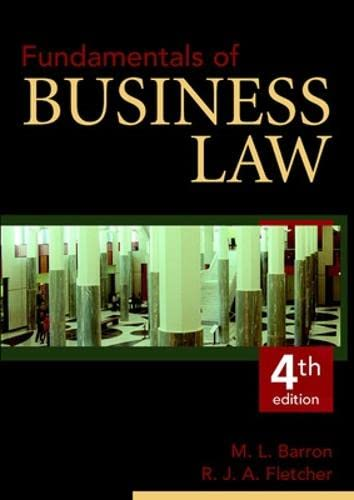 9780074711729: Fundamentals of Business Law