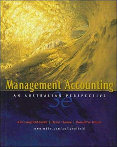 9780074711903: Management Accounting: An Australian Perspective