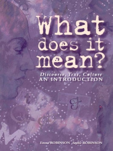 9780074712597: What Does it Mean? - Discourse: A Study in Discourse Analysis, Cultural Communication and Textual Features