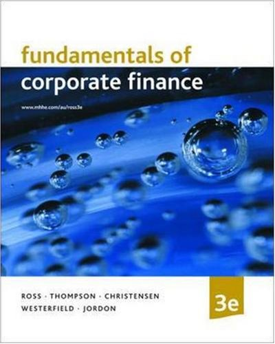 9780074713082: Fundamentals of Corporate Finance (Australia Higher Education Business & Economics Finance)