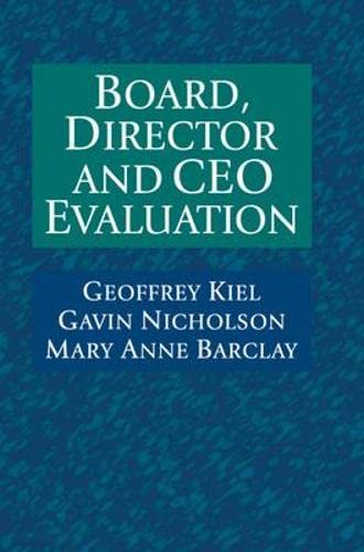 9780074714027: Board, Director and CEO Evaluation