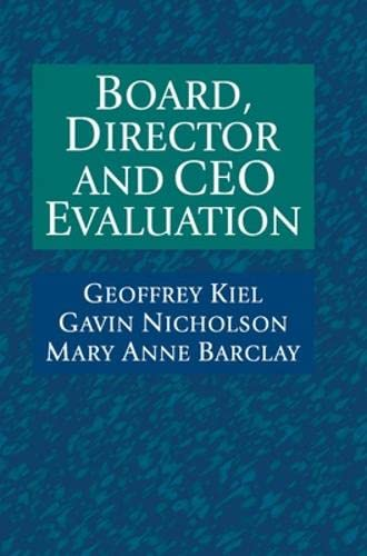 Board, Director and CEO Evaluation (Hardback): Geoffrey Kiel, Gavin