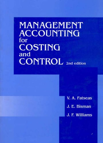 9780074714331: Management Account Cost & Control