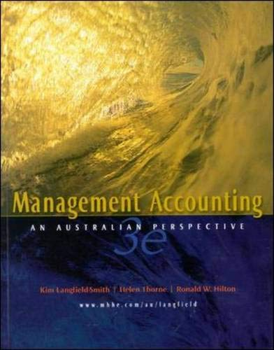 9780074714348: Management Accounting: An Australian Perspective