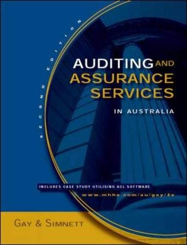 9780074714430: Auditing and Assurance Services in Australia