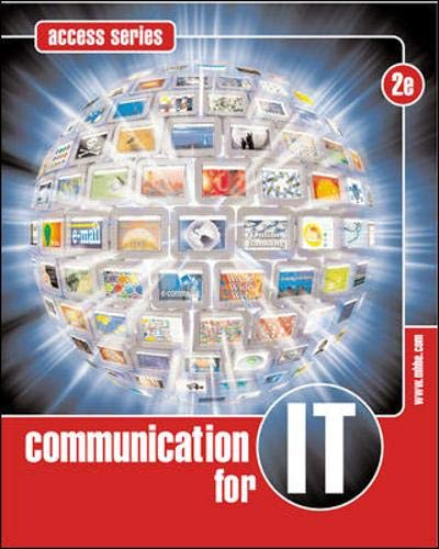 9780074714782: Communication for Information Technology (Access)