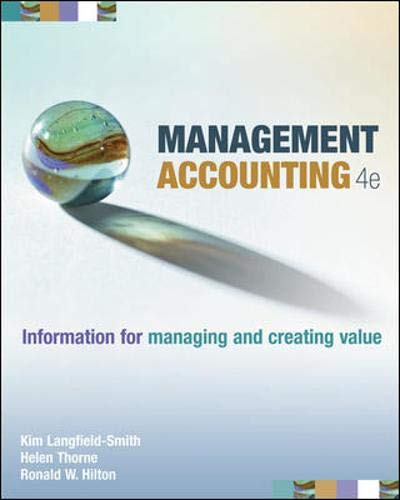 Management Accounting : Information for Managing And: Kim Langfield-Smith and