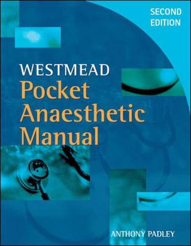 9780074714867: Westmead Pocket Anaesthetic Manual