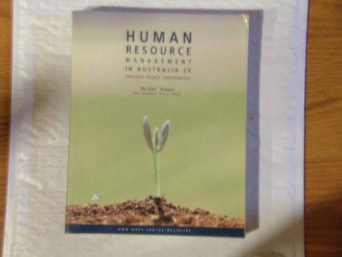 Human Resource Management in Australia: n/a