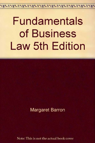 9780074715444: Fundamentals of Business Law 5th Edition