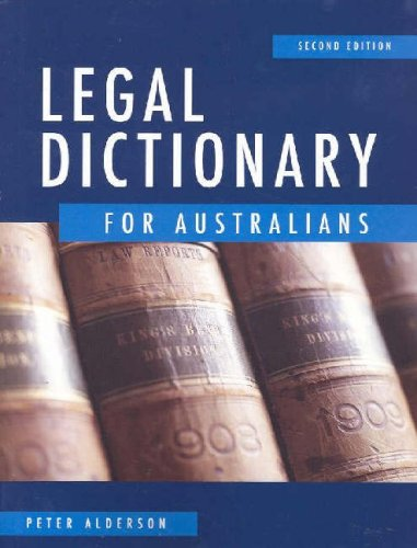9780074715772: Legal Dictionary for Australians