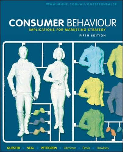9780074716922: Consumer Behaviour: Implications for Marketing Strategy