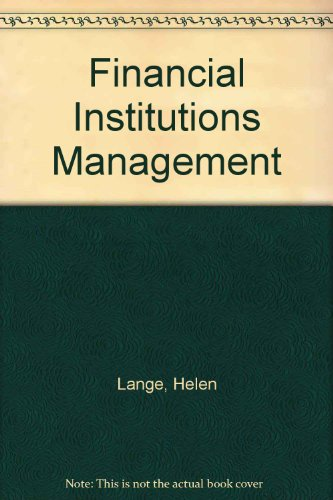 9780074717493: Financial Institutions Management