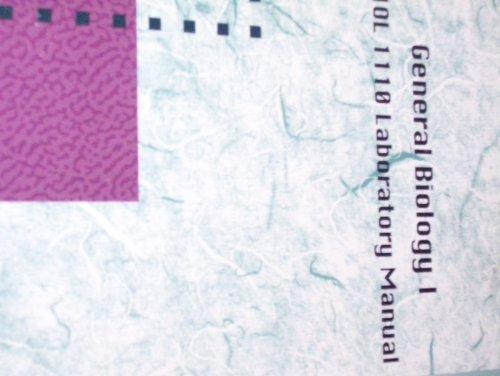 9780074773192: General Biology 1, Biology 1110 Laboratory Manual