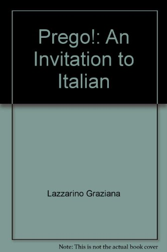 9780075408659: Prego!: An Invitation to Italian