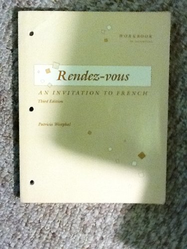 9780075408680: Workbook to accompany Rendez-vous: An invitation to French
