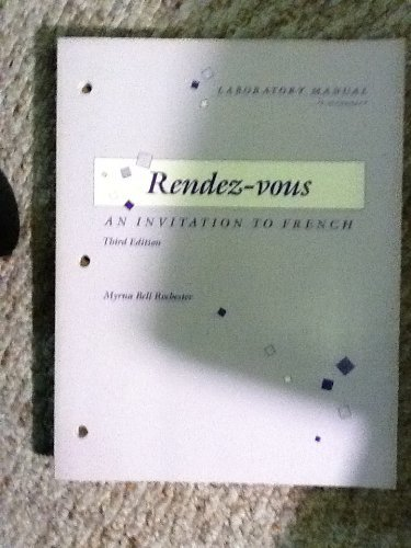 9780075408697: Laboratory manual to accompany Rendez-vous, an invitation to French, third edition