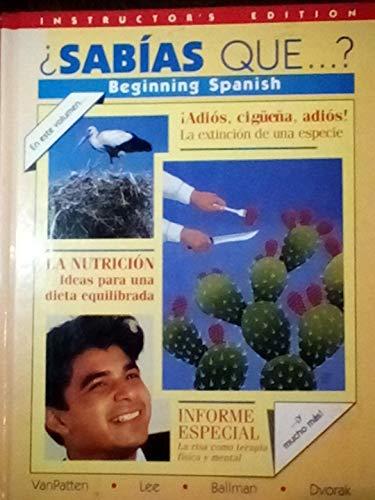 9780075408840: Sabias Que . . ? Beginning Spanish
