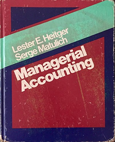 9780075485520: Managerial Accounting