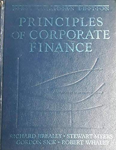 9780075485728: Principals of Corporate Finance - First Canadian Edition