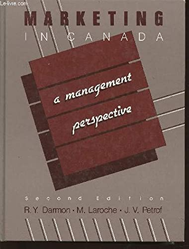 9780075489115: Marketing in Canada (A Management Perspective)