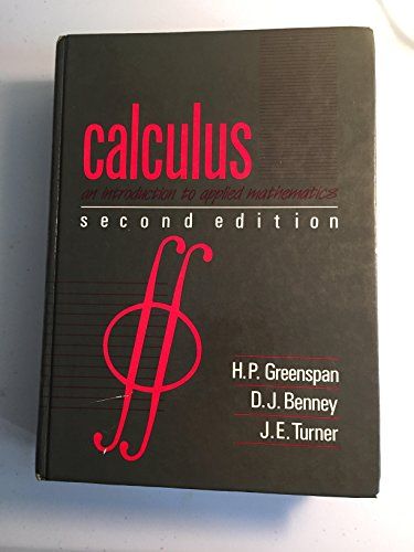 9780075489269: Calculus: An Introduction to Applied Mathematics