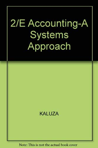 9780075489542: Accounting: A Systems Approach