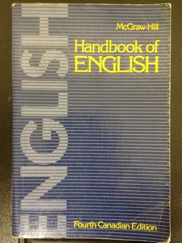 9780075489863: McGraw-Hill Handbook of English