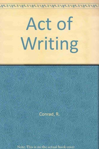 9780075493020: Act of Writing