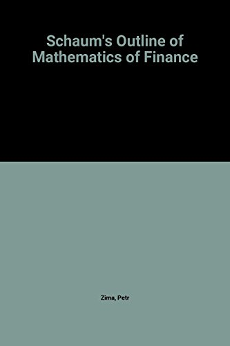 Mathematics of Finance: Zima, Petr