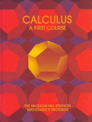 9780075496014: Calculus: A First Course