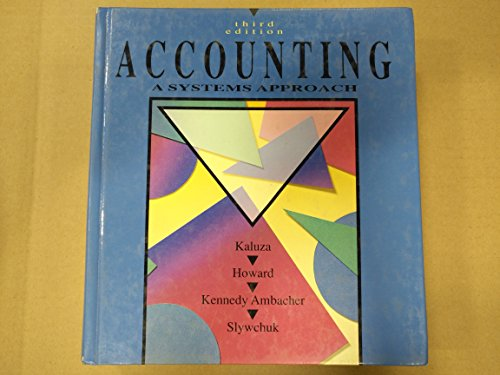 9780075496793: Accounting: A Systems Approach