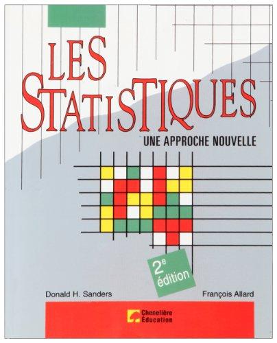 9780075498223: Les statistiques, une approche nouvelle