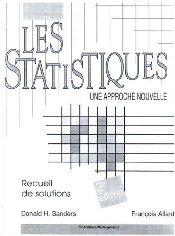 9780075498230: Les statistiques. guide de l'enseignant