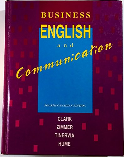 9780075498575: Business English and Communication [fourth Canadian Edition]