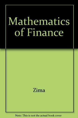 9780075515142: Mathematics of Finance