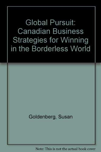 9780075515678: Global Pursuit Canadian Business Strateg