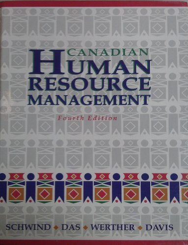 9780075515746: Canadian Human Resource Management Fourth Edition