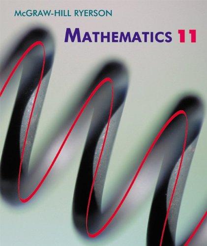 Mcgraw-Hill Ryerson Mathematics 11: Various