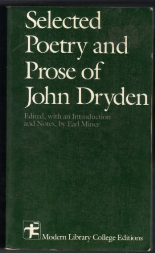 9780075535539: Selected Writings of Dryden