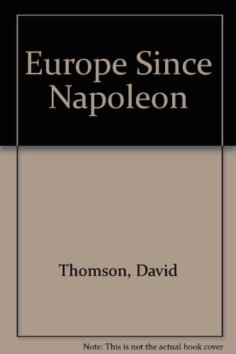 9780075535577: Europe Since Napoleon