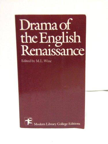 9780075535690: Drama of The English Renaissance