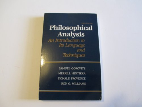 9780075535959: Philosophical Analysis: An Introduction to Its Language and Techniques