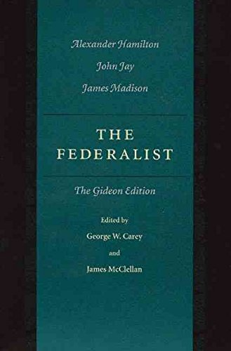 9780075536444: Federalist: A Commentary on the Constitution of the United States from the Original Text of Alexander Hamilton, John Jay, and James Madison