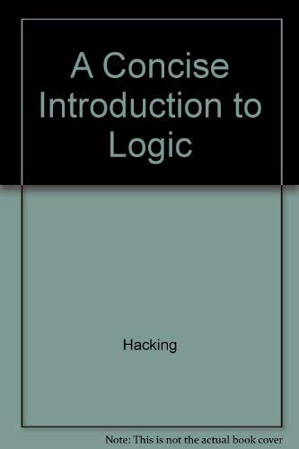 9780075536703: A Concise Introduction to Logic