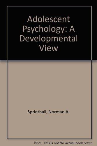 9780075537502: Adolescent Psychology: A Developmental View
