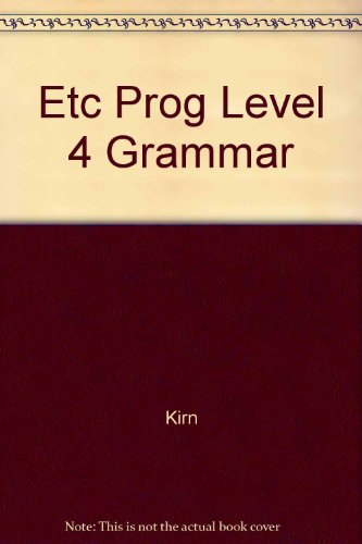 9780075537731: The Etc Program Cross-Cultural Communication: A Competency-Based Grammar/Level 4