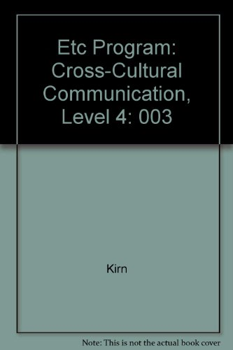 9780075537755: Etc Cross-Cultural Communication
